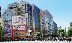 Akihabara Tokyo. (Bernard Spragg) Tags: akihabara tokyo street cityscape japan lumix shops traffic crowds