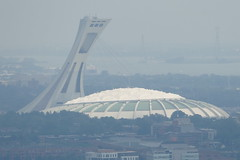 The Spaceship Has Landed (John of Witney) Tags: olympicstadium flyingsaucer spaceship telephoto montreal quebec canada belvédèrecamillienhoude mountroyal