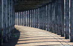 whitby (amazingstoker) Tags: light shadow wood structure pier whitby west gothic yorkshire sea harbour maritime port beam girder support architecture concrete