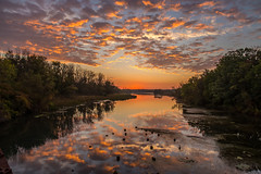 Pillows of Magic (devon 6824) Tags: sunset sunrise sky water trees shore serene forest lake landscape