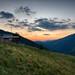 Alpine Hut at Sunset