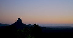 Glasshouse Mountains (Lisa M / /) Tags: glasshouse mountains queensland australia sunrise dawn qld landscape forest sky mountain tree serene nature naturephotography