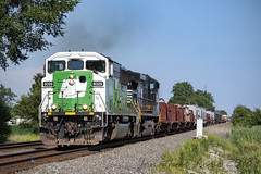 Old BN Workhorse (conrail6809) Tags: emd sd60 sd60m bn bnsf burlington northern trains cbfx lease leaser ns norfolk southern butler in indiana 39e