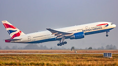 British Airways Boeing B777-200(ER) G-YMMF Bangalore (BLR/VOBL) (Aiel) Tags: britishairways boeing b777 b777200er gymmf bangalore bengaluru canon60d tamron70300vc