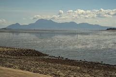 DSC03933 有明海干潟と雲仙岳 Ariake Bay Tidal Flat And Mt.Unzendake (Keishi Etoh rough-and-ready photoglaph) Tags: sony a7ⅱ sonya7ⅱ 35mmfullframe ilce7m2 sonyilce7m2 lzosjupiter985mmf2 85mm jupiter9 jupiter mf manualfocuslens primelens fixedfocallengthlens oldlens m42 単焦点 中望遠 有明海 大牟田 ariakebay omuta