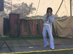 Elvis sings for the crowds at Elvisham 14Jul18