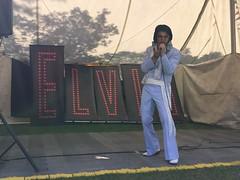 Elvis sings for the crowds at Elvisham 14Jul18