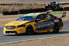 SLADE ~ Freightliner (Jungle Jack Movements (ferroequinologist)) Tags: sunday virgin australia supercar championship v8 ipswich qld queensland shane van gisbergen 97 red bull holden gm gmh motor racing pass race speed car cars hottie track practice pole position times timing hard competition competitive event saloon open wheeler sports racer driver mechanic engine oil petrol build fast faster fastest grid circuit drive helmet marshal sponsor number class motorsport classic chev mostert whincup mclaughlin svg road grass tim slade freightliner truck brad jones zb commodore