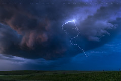 Bart Simpson in the Clouds with Lightning (Matt Granz Photography) Tags: clouds lightning lightening springfield nebraska simpsons bart nature grass hills sky skies mattgranz bartsimpson landscape