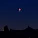 Roque Nublo, Bentayga & Eclipsed Moon