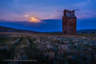 Full Moonrise at Dorothy Elevator