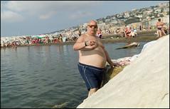 (Big In Mappatella Beach) (Robbie McIntosh) Tags: leicam9p leica m9p rangefinder streetphotography 35mm leicam autaut candid strangers leicaelmarit28mmf28iii elmarit28mmf28iii elmarit 28mm seaside tan naked sand lidomappatella mappatellabeach man