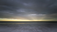 Beyond the Horizon (clearbluelight) Tags: longexposure landscape seascape horizon specularrays clouds canterbury cloudscape nikond850 nikon1835 newzealand sea ocean pacificocean gorebay moodyweather weather eveninglight incomingtide ngc