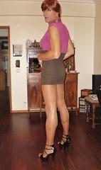Karen (Karen Maris) Tags: tg tgirl tgurl karen transvestite transsexual transgender legs pantyhose tights heels sandals tranny trannie redhead sheer crossdress crossdresser