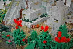 Temple of the serpant - summer joust 2018 - ceramics (adde51) Tags: serpent adde51 lego moc temple mesoamerican aztec maya mayan jungle river bird birds tree snake dragon summerjoust summerjoust2018 2018 statue lion