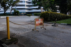 No Parking (Shawn Sijnstra) Tags: noparking rust rusty singapore travel chain building road driveway blocked denied accessdenied