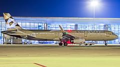 Etihad Airbus A321 A6-AEJ Bangalore (BLR/VOBL) (Aiel) Tags: etihad airbus a321 a6aej bangalore bengaluru canon60d tamron70300vc night noflash longexposure