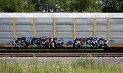 Butch/Eerie (quiet-silence) Tags: graffiti graff freight fr8 train railroad railcar art butch eerie etc vrs ehc autorack