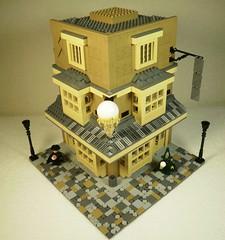 Florean Fortescue's ice-cream parlour (caatusmolotus) Tags: lego harrypotter diagonalley floreanfortescue icecream fantasy house wizard london