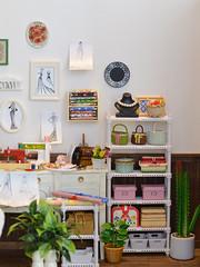 Sewing Room -5- ♥♥♥ closer look to the shelf (Moonrabbit_ly) Tags: handmade cute onesixth blythediorama rement diorama dollhouse miniaturebasket basket licca blythe miniature doll sewing sewingroom rements