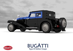 Bugatti Type-41 Royale Kellner Coupe (41141) (lego911) Tags: bugatti type41 type 41 coupe kellner 41141 1931 1930s classic vintage luxury exclusive elephant ettoire france french auto car moc model miniland lego lego911 ldd render cad povray straighteight