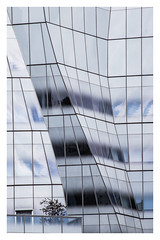 New York (AEChown (away now)) Tags: newyork building architecture glass reflections tree abstract lines geometric balcony highline