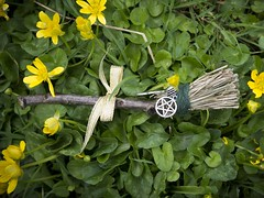 Besom Flowers (marcusbentus) Tags: pentangle pentalpha pine twig pentagram witches broom witchesbroom besom spellcasting mystic crystal witchcraft whitewitch witch white pagan wican wicca magic you for spell aspellforyou gx7 lumix panasonic 25f14 summilux dg leica enchantment wish desire protect protection herb herbs healing love luck macro magicpotion text garden flo