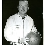 Coach Vic Bubas Holding Basketball, [1960s] thumbnail