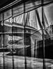 (Kijkdan) Tags: architectuur architecture bridge erasmusbrug monochrome blackandwhite lines reflection