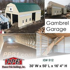 Gambrel Garage with Attic Floor (pioneerpolebuildings) Tags: copia home garden pioneer pole buildings attic floor ppb id512 gambrel garage