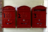 NEWTOWN POWYS; Red Mail Box