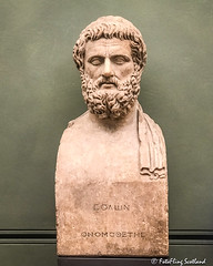 Portrait bust of Sophocles (1-2nd century AD) (FotoFling Scotland) Tags: florence uffizigallery artgallery bust museum fotoflingscotland