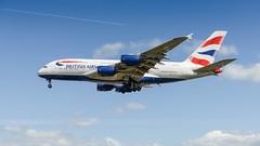BRITISH AIRWAYS A380-841 (lavierphilippephotographie) Tags: britishairways airbus a380 a380841 superheavy long h longhaul longcourrier 4engines lhr london londonheathrow heathrow myrtleavenue plane airplane aircraft airline airliner avgeek spotter planespotter