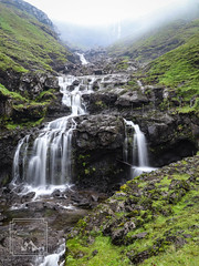 Sund Waterfall (fentonphotography) Tags: faroeislands streymoy waterfall rushingwater rocks green travel foggyday