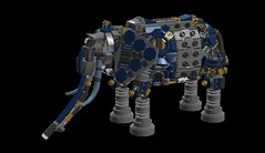 elephant_mech 36sr(1) (demitriusgaouette9991) Tags: lego military army ldd armored powerful deadly mecha droid robot animal walker