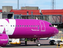 Wow Air A321-253N TF-SKY (kenjet) Tags: wow wowair kef bikf airport gate nose ww airbus a321 321 a321253n neo a321neo a321200 purple flugzeug plane jet aviation airline airliner iceland terminal keflavikinternationalairport