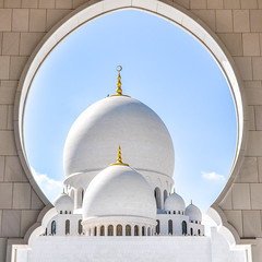 La Grande Mosquée Sheikh Zayed (Docaron) Tags: emirats emirates abudhabi aboudabi aboudhabi aboûdabî أبوظبي mosquée mosque architecture islam sheikhzayed dôme dome marbre marble blanc white dominiquecaron uae szgm