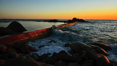 pleasant evening, plouescat (eric-foto) Tags: diguedeprosguen plouescat littoral digue port harbour sunset pennarbed breizh bzh brittany bretagne finistère