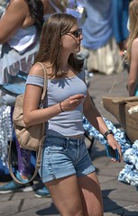A Sunny July Day (Scott 97006) Tags: woman female lady shorts pretty sunny