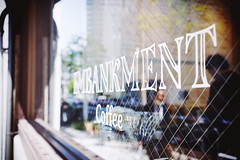 """Embankment Coffee"" (Eric Flexyourhead) Tags: kitahama 北浜 chuo chuoku 中央区 osaka 大阪市 kansai 関西地方 japan 日本 city urban detail fragment shop store coffee café coffeeshop embankmentcoffee window display glass reflections vignette shallowdepthoffield sonyalphaa7 zeisssonnartfe35mmf28za zeiss 35mmf28"