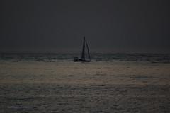3KA09431a_C (Kernowfile) Tags: yacht sea dusk dark twilight cloud lights navigationlights cornwall stives porthmeorbeach