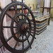 Wheel or helm of a boat, found in model ship builders shop, Heritage Village, Abu Dhabi