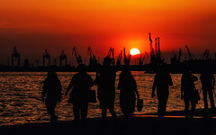 Greece (Sebastian Pier Filip) Tags: panasonic tz200 pointandshoot greece sunset street silhouette