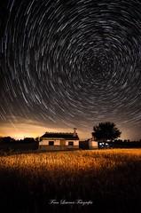Field (franlaserna) Tags: nature landscape circle vortex circumpolar startrails field lights milkyway sky house nightphotography night stars starstax