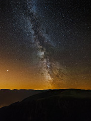 The great gig in the sky (Christophe Rusak) Tags: dramatic sky sunset dawn sunrise dusk sun fog moody moon twilight silhouette moonlight clouds night light blue travel summer beautiful milky way star stars astrophotography astronomy landscape nightscape vosges france mars ciel