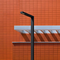 (simeongalabov) Tags: abstract architecture building lamp lines minimalist orange pattern shadows wall