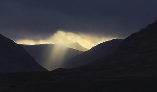 Crepuscular Rays, Rannoch Moor, Scotland