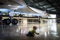 Baby & Concorde, Aerospace Bristol (chrisgj6) Tags: supersonicairliner silhouette alphafoxtrot airplane museum bristol aerospacebristol aerospace concorde baby gboaf216 patchway england unitedkingdom gb