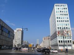 Otto-Braun-Straße, Berlin (Stewie1980) Tags: berlin mitte ost deutschland germany allemagne east otto braun strase ddr highrise building haus des lehrers street skyline urban city