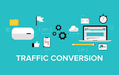 Traffic Conversion Flat Illustration Concept (amakaoguike) Tags: abstract analysis analyzing business click communication computer concept connection content conversion creative design development efficiency engine flat growth icons illustration improvement increase information internet laptop link management marketing media modern network online optimization optimize optimizing page pay popularity ppc process ranking research results sales search searching seo service site social solution strategy success symbol target technology traffic vector views visitors visits web webpage website
